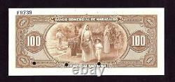 Banco Comercial De Maracaibo 100 Bolivares 1933 Spécimen (p-s183) Venezuela Unc