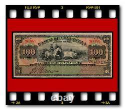 Banco De Venezuela P-s313 100 Bolivares 24.08.1936 Billet De Banque Abnc 1931-1939 Numéro