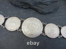 Brassard Silber Münzen Venezuela Tracht 1929 1935 1945 1954 Bolivar Libertador