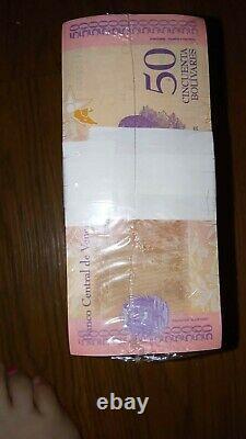 Brick Billets De Remplacement 50 Bolivares Soberanos Note Étoile Venezuela Unc Rare