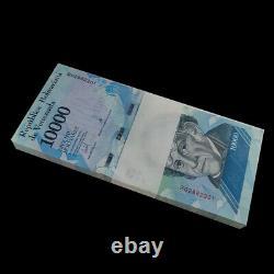 Brick Lot 1000 Pcs, Venezuela 10000 Bolivares, 2016/2017, P-new, Billets De Banque, Unc