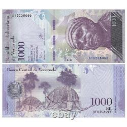 Bricklot 1000 Pcs, Venezuela 1000 Bolivares, 2016-2017, P-95, Unc, 10 Faisceaux