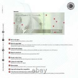 Bundle 100 Pcs New Banknote 200000 Bolivares 3 Septembre. Vénézuela 2020