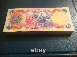 Commémorative 1980 Bundle 100 Pcs Venezuela Banknote 100 Bolivares Unc