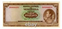 Erreur Venezuela 100 Bolivares Agosto 8 1967 Firma Reverso Parte De Fecha Raro