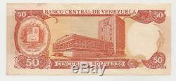 Erreur Venezuela 50 Bolivars Año 1990 Au Rare Scarce