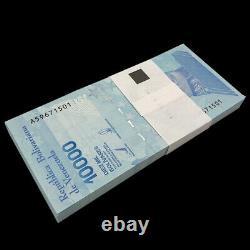 Lot 100 Pcs, Venezuela 10000 Bolivares, 2019, P-109b, Thin Security Thread, Unc