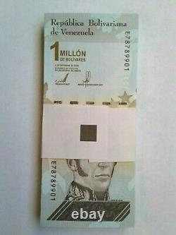 Monnaie De Papier Venezuela 1 Million De Bolivas Ensemble Complet 100 Notes 2020 Unc Nouveau