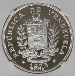 Ngc-pf68uc 1975 Venezuela Wildlife 25+50bolivares Silver 2pcs Proof Set