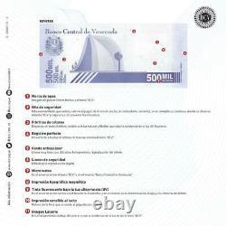Set 50 Pcs New Banknote 500.000 Bolivares Septembre 03. Vénézuela 2020