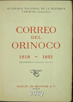 Simon Bolivar Correo Del Orinoco 1818-1821. (venezuela) Télécopie. 1939