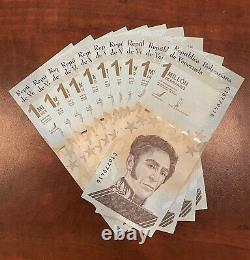 Venezuela 1 000 000 Bolivars Ensemble De 10 Nouveaux Billets Unc 2020 1 Million 10 Pcs