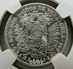 Venezuela 1 Bolivar 1911 Ngc Au 53
