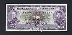 Venezuela 10 Bolivares Nd 1963-70 P45s Spécimen Non Circulé