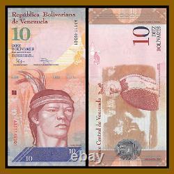 Venezuela 10 Bolivares X 100 Pcs Bundle, 2013 P-90 American Harpy Eagle Unc