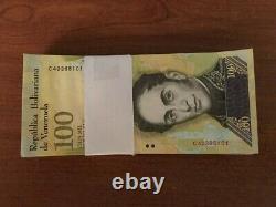 Venezuela 100.000 100000 Bolivares X 100 Pcs Bundle 2016/2017 Préfixe Varie Utilisé