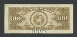 Venezuela 100 Bolivares 1956 P34c Sur Les Très Beaux Billets