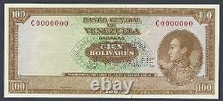 Venezuela 100 Bolivares 1963-73 P48s Spécimen Préfixe C Non Circulé