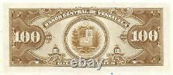 Venezuela 100 Bolivares Nd. P 34s Specimen Uncirculated Banknote Des Années 1940