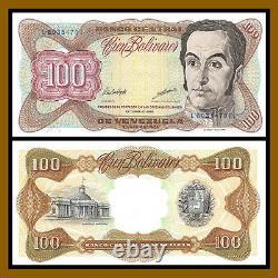 Venezuela 100 Bolivares X 100 Pcs Bundle, 1998 P-66 Unc