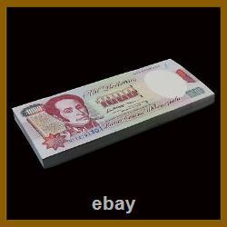 Venezuela 1000 (1000) Bolivares X 100 Pcs Bundle, 1992 P-73 Simon Bolivar Unc