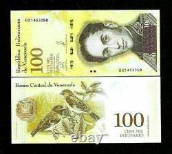 Venezuela 100000 100.000 Bolivares X 100 Pcs Bundle, Lot Unc New New Money Note