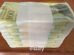 Venezuela 100000 (100 000) Bolivars X 1000 Pcs Brique Bundle, Unc 2017 Nouvelle Note