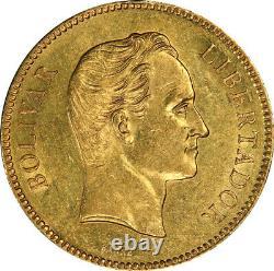 Venezuela 1886 Or 100 Bolivares Pcgs Au-55 Mintage 4 250
