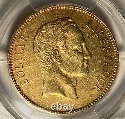 Venezuela 1887 Or 100 Pièces De Monnaie Bolivariennes. 9334 Agw Pcgs Au50