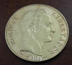 Venezuela 1904 Or 20 Bolivares Au Bolivar
