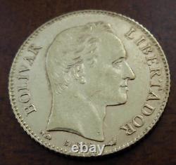 Venezuela 1912 Or 20 Bolivares Au Bolivar