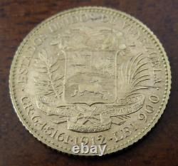 Venezuela 1912 Or 20 Bolivars Unc