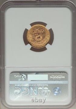 Venezuela 1930 (p) 10 Bolivares Gold Coin Gem Certifié Non Circulé Ngc Ms66