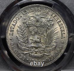 Venezuela 1935 5 Bolivares Pcgs Ms62 Pc0512 Combiner Expédition