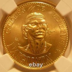 Venezuela 1955 Or 60 Bolivares Ngc Ms65 Chiefs Series Naiguata