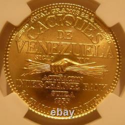Venezuela 1955 Or 60 Bolivares Ngc Ms67 Chiefs Series Chacao