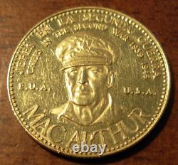 Venezuela 1957 Médaille D'or 20 Bolivares Seconde Guerre Mondiale Numéro Macarthur Des États-unis