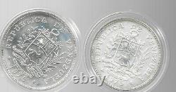 Venezuela 1975 25 & 50 Bolivars 2 Pièces D'argent Sterling Km-y46&47 Gem Bu Cased