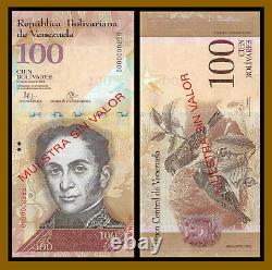 Venezuela 2-100 Bolivars (6 Pcs), 2007-2015 P-88s-93s Specimen Unc