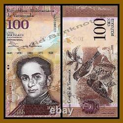 Vénézuela 2 100 Bolivars X 50 Pcs Ensemble, 2007/2015 P-(88-93) Unc