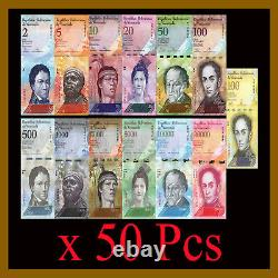 Venezuela 2 100000 Bolivares (13 Pcs Full Set) X 50 Lots Bundle, 2007-2017 Unc