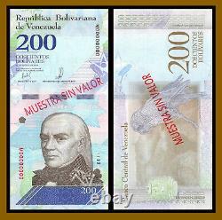Venezuela 2-500 Bolivares Soberanos (8 Pcs Full Set), 2018 P-101s-108s Specimen