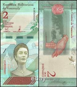 Venezuela 2 Bolivar Soberano X 1000 Pcs, 2018, P-new, Unc, Josefa, Brick