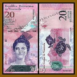 Venezuela 2 Bolivares 100 X 100 Pcs Bundle Set, 2007/2015 P- (88-93) Unc