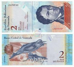 Venezuela 2 Bolivares X 500 Pcs 2007-2013 P-88 Half Brick Unc Uncirculated