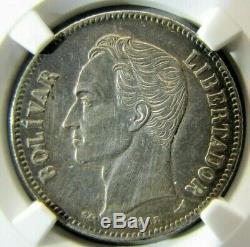 Venezuela 2 Bolivars 1905 (vertical 5) Les Détails De L'ua Ngc (nettoyé)