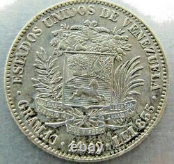 Venezuela 2 Bolivars 1912 Forte Ua-unc, Une Fois Nettoyé. Catégorie Très Rare