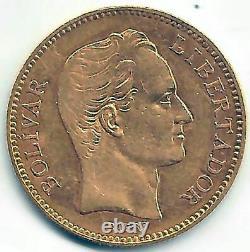 Venezuela 20 Bolivares 1879 Oro @ Excelente @