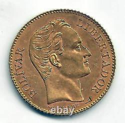 Venezuela 20 Bolivares 1904 Gold @ausgezeichnet @