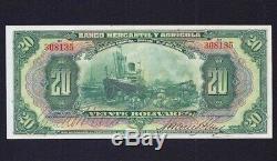 Venezuela 20 Bolivares 1927 P-s- 232-r1 Ef Aunc